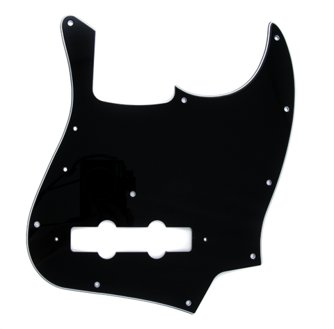 Fender Pure Vintage Pickguard, Jazz Bass '70s, 10-Hole Mount, Black, 3-Ply
