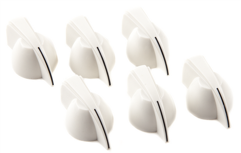 Fender Chicken Head Amplifier Knobs, (6), White