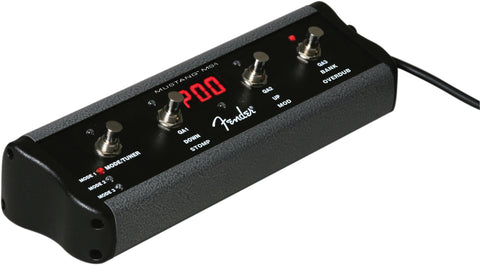 "Fender 4-Button Footswitch: Preset Up Down, Quick Access, Effects On/Off, or Tap Tempo, with 1/4"" Jack"