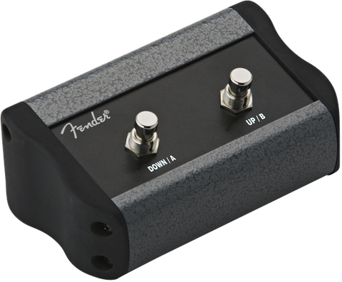 "Fender 2-Button Programmable Footswitch: Preset Up Down, Quick Access, Effects On/Off, or Tap Tempo, with 1/4"" Jack"