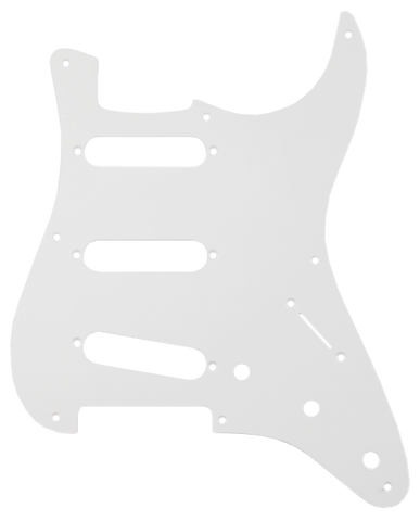Fender Pure Vintage Pickguard, '56/'59 Stratocaster, 8-Hole Mount, Eggshell, 1-Ply
