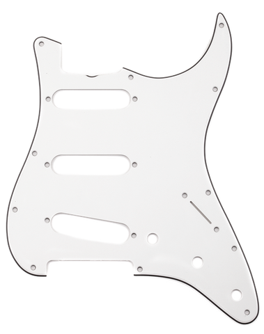 Fender Pure Vintage Pickguard, '65 Stratocaster, 12-Hole Mount, Eggshell, 3-Ply