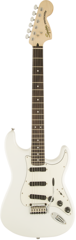 Squier Deluxe Hot Rails Strat, Rosewood Fingerboard, Olympic White