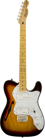 Squier Vintage Modified '72 Tele Thinline, Maple Fingerboard, 3-Colour Sunburst