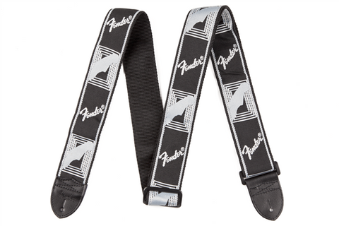 "Fender 2"" Monogrammed Strap, Black/Light Grey/Dark Grey"