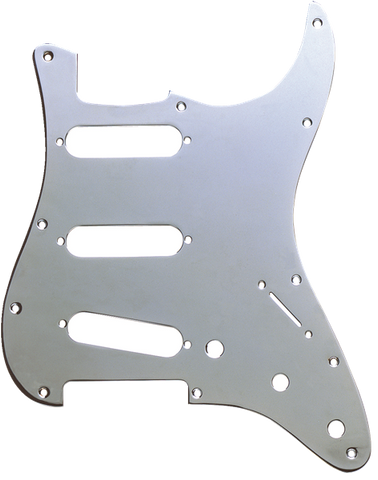 Fender Pickguard, Stratocaster S/S/S, 11-Hole Mount, Chrome-Plated, 1-Ply