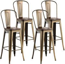 "Load image into Gallery viewer, BAR STOOLS with backs 30"" high - 4 Pack"