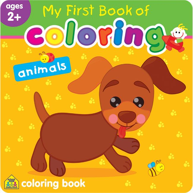 School Zone My First Book of Coloring, Animals Ages 2+