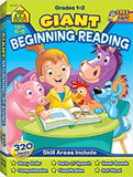 School Zone Giant Beginning Reading Workbook Ages 6-8