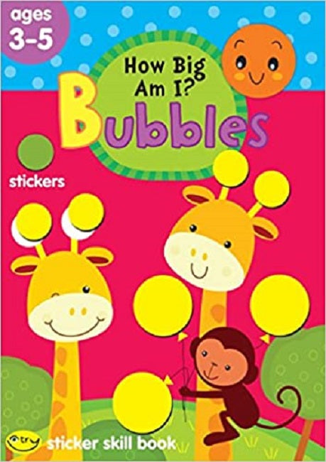 School Zone How Big Am I? Bubbles Sticker Skill Book Ages 3-5