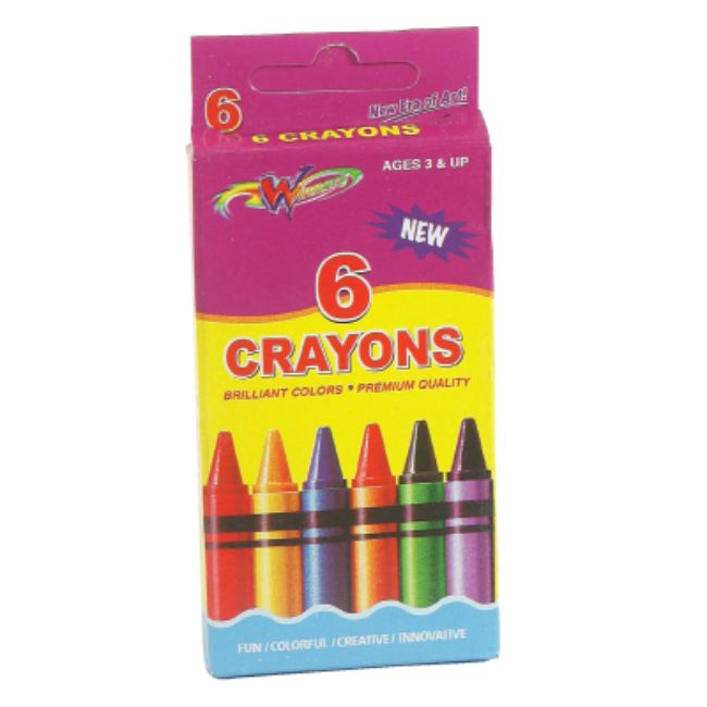 Winners, Crayons, 6count