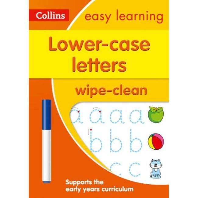 Collins Easy Learning Wipe Clean, Lower Case Letters Ages 3-5, BY Collins UK