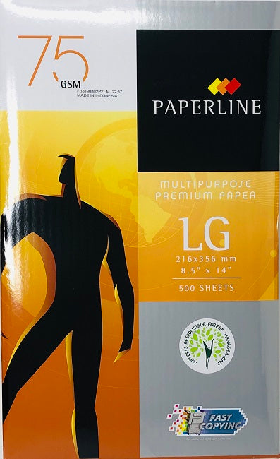 Paperline, Paper, Legal Size (8.5x14), 75gm, 500 sheets