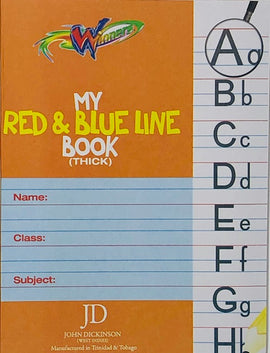 Winners, My Red & Blue Line (Thick) Exercise Book, 56pgs