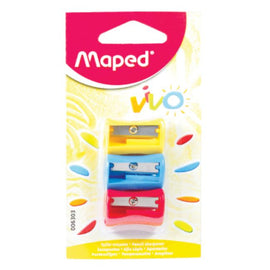Maped, Sharpeners, Vivo, 3count