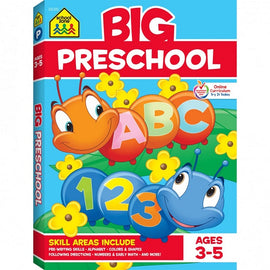 School Zone Big Preschool Activity Workbook Ages 3-5