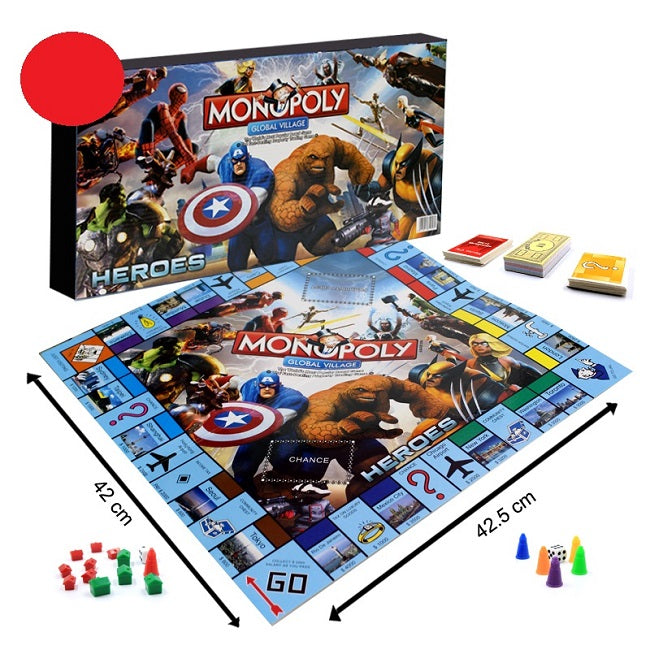 Marvel Heroes Monopoly Board Game