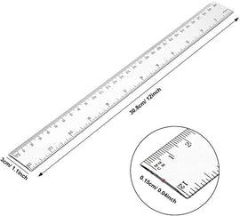 Nataraj, Ruler, Plastic, 30cm, TRANSPARENT