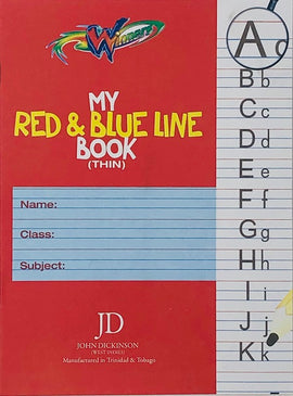 Winners, Exercise Book, My Red & Blue Line (Thin), 56pgs