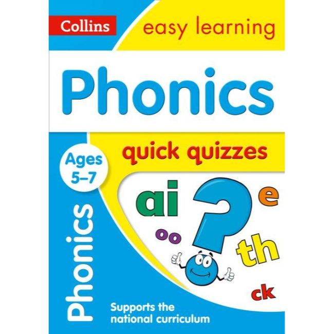 Collins Easy Learning Quick Quizzes, Phonics Ages 5-7, BY Collins UK