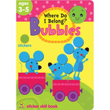 School Zone Where Do I Belong? Bubbles Sticker Skill Book Ages 3-5