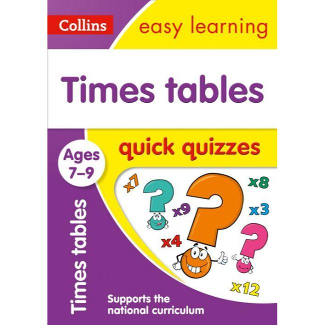 Collins Easy Learning Quick Quizzes, Times Tables Ages 7-9, BY Collins UK