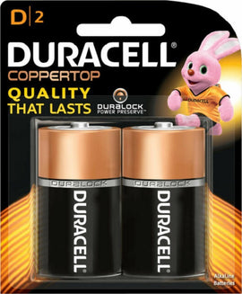 Duracell, Battery, D2, 2count