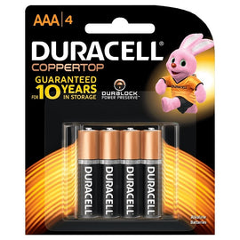 Duracell, Battery, AAA, 4count