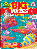 School Zone Big Mazes and More Workbook Ages 6-8