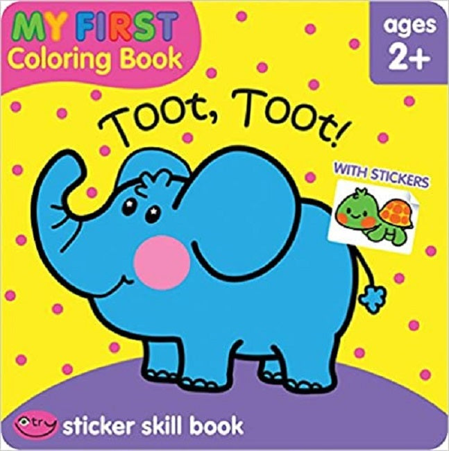 School Zone Toot, Toot! My First Coloring and Sticker Skill Book Ages 2+