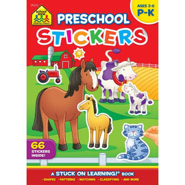 School Zone Preschool Stickers Book Ages 3-6