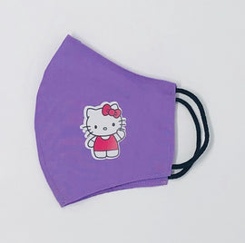 Hello Kitty Face Mask, Character Print, Fabric, 2 Layer