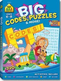 School Zone Big Codes, Puzzles and More Workbook Ages 6-8