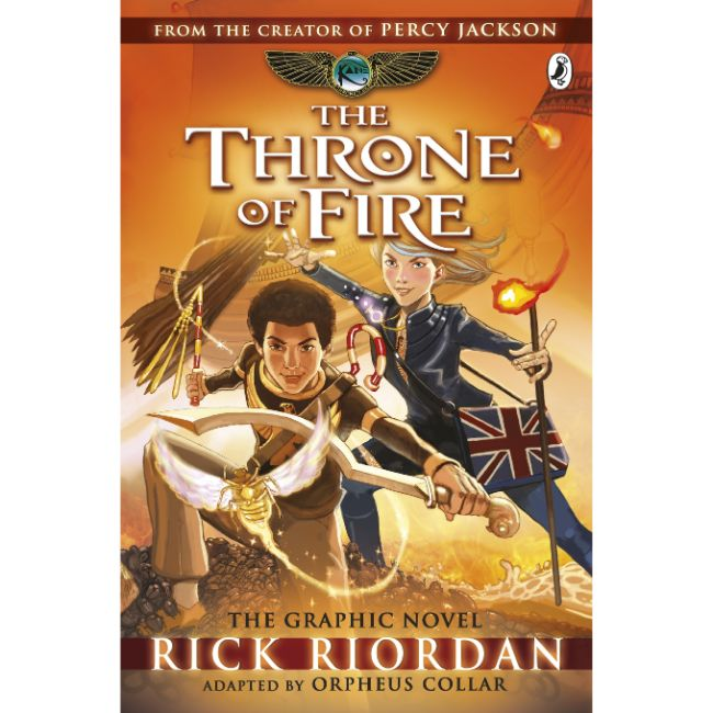The Kane Chronicles, The Throne of Fire: The Graphic Novel BY R. Riordan