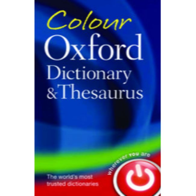 Colour Oxford Dictionary and Thesaurus, 3ed, Paperback