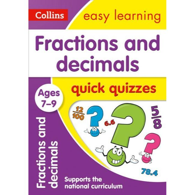 Collins Easy Learning Quick Quizzes, Fractions & Decimals Ages 7-9, BY Collins UK