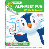 School Zone Alphabet Fun! Write and Reuse Workbook Ages 4-6