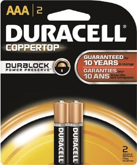 Duracell, Battery, AAA, 2count