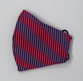 Adult Face Mask, Fabric, Contoured, PINK & PURPLE STRIPE