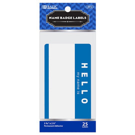 "BAZIC, Label, ""HELLO my name is"" Name Badge, 25count"
