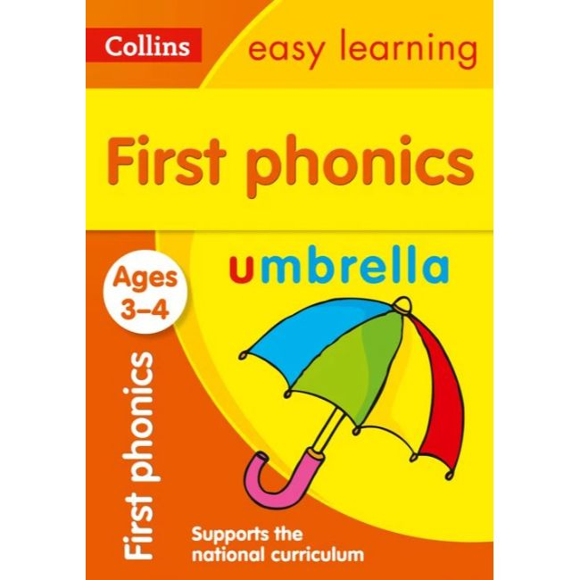 Collins Easy Learning Activity Book, First Phonics Ages 3-5, BY Collins UK