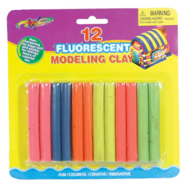 Winners, Fluorescent Clay, 12count