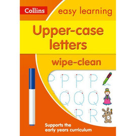 Collins Easy Learning Wipe Clean, Upper Case Letters Ages 3-5, BY Collins UK