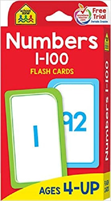 Numbers 1-100 Flash Card