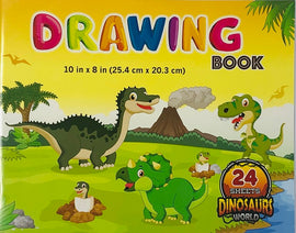 Winners, Drawing Book, 10x8, Assorted Patterns (Dinosaurs, Robots, Skateboards)