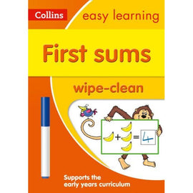 Collins Easy Learning Wipe Clean, First Sums Ages 3-5, BY Collins UK