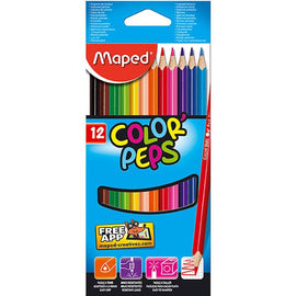 Maped, Colour Pencils, Color Peps, 12 count