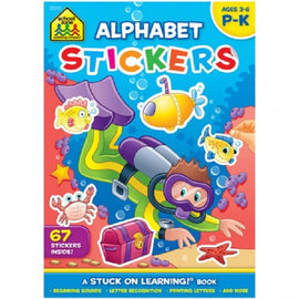Alphabet Stickers Workbook, Ages 3-6