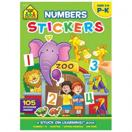 School Zone Number Stickers, Ages 3-6