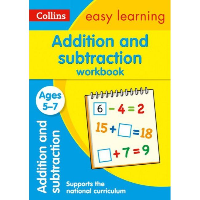 Collins Easy Learning Activity Book, Addition and Subtraction Workbook Ages 5-7, BY Collins UK